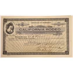 California Rodeo Membership Certificate  [113897]