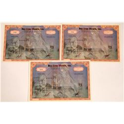 Bay Area Ghosts Stock Certificates (3)  [131394]