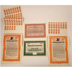 Famous San Francisco Hotels Stock Certificates & Bonds  [107910]