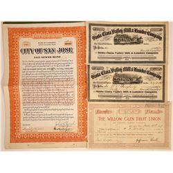 Santa Clara, California Stocks & Bond  [113895]