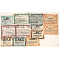 I. Magnin & Co. Stock Certificates (12)  [127715]