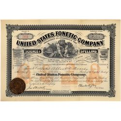 The United States Fonetic Company Stock Certificate  [128949]