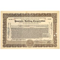 Yosemite Holding Corporation Stock Certificate (1)  [127692]