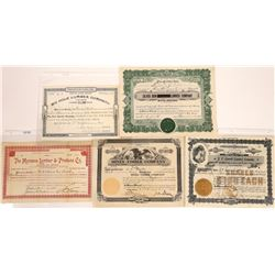 Butte, Montana Lumber Stock Certificate Group  [129637]