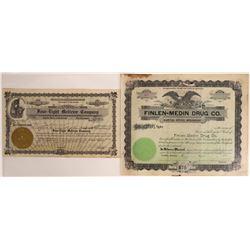 Butte, Montana Drug Store Stock Certificates  [129632]