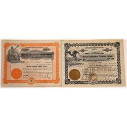 Butte, Montana Telephone Stock Certificate Pair  [129634]