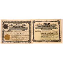 Chinook, Montana Stock Certificate Pair  [127574]