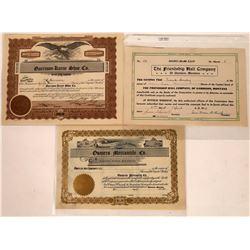 Garrison, Montana Stock Certificate Trio  [129629]