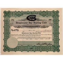 Broadwater Bay Boating Club Stock Certificate  [129585]
