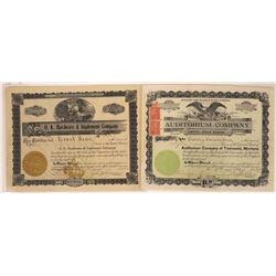 Townsend, Montana Stock Certificate Pair  [129639]