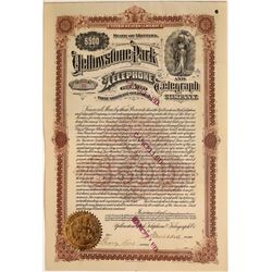 Yellowstone Park Telephone and Telegraph Company Bond, 1901  [123857]