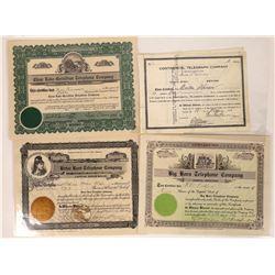 Montana Telephone & Telegraph Stock Certificates  [129640]