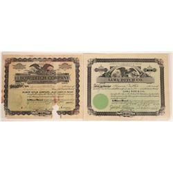 Montana Ditch Company Stock Certificates  [127587]
