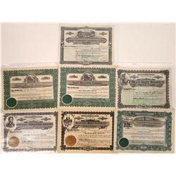 Montana Mercantile & Stores Stock Certificate Group  [127577]