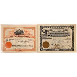 Montana Timber Stock Certificate Pair incl. #1  [129584]