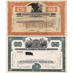 International Business Machines Corporation Stock Certificates (2)  [127695]