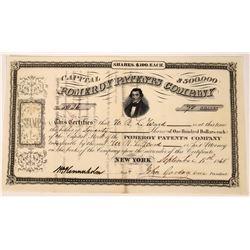Pomeroy Patents Company Stock Certificate  [127421]