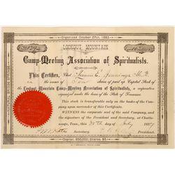 Lookout Mountain Camp Meeting Association of Spiritualists Stock, 1887  [128829]