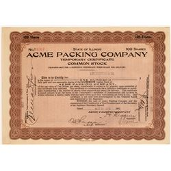 Acme Packing Stock- Original NFL Sponsor of Green Bay Packers  [118750]