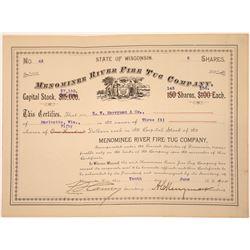Menominee River Fire Tug Company Stock, Wisconsin, 1904  [131013]