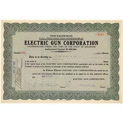 Electric Gun Company Stock Certificate  [127005]