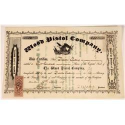 S.W. Wood Pistol Company 1865 Stock Certificate  [127418]