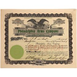 Stock Certificate for the Philadelphia Arms Company  [127136]