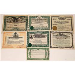 Asian/American Stock Certificates (7)  [127398]