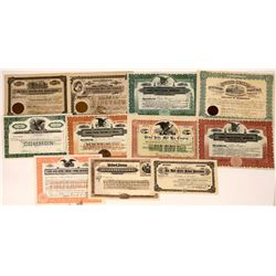 11 Mail & Post Office Related Stock Certificates  [127368]