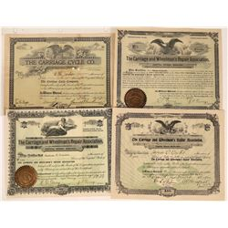 Bicycle Manufacturer and Repair Stock Certificates (4)  [127739]