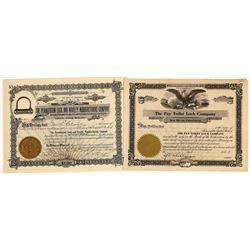 Lock Companies Stock Certificates (2)  [127358]