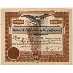 National Vending Machine Co. Stock Certificate  [127394]