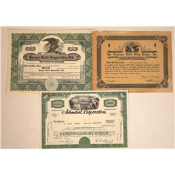 Radio Stock Certificate Trio  [113843]