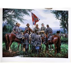 """On to Gettysburg"" Signed, Numbered Print by Civil War Artist J.P. Strain  [122486]"