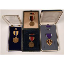U.S. Army Purple Heart and WW 11 Service Medals  [127131]