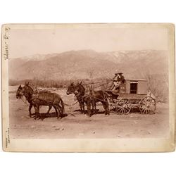 Stage Coach, Fort Grant, Arizona Territory Original Photograph, c1885  [126927]