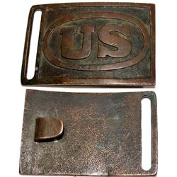 U.S. Military Brass Belt Buckle  [131386]