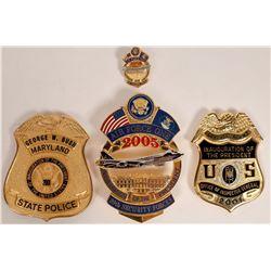 2001 & 2005  Inauguration Police Badges  [131042]