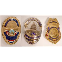 Clinton and Bush Inauguration Police badges  [131041]