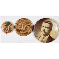 Roosevelt/McKinley  Campaign Photo Buttons (3)  [131097]