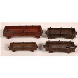 Cast Iron Gondola Cars - 4  [133072]