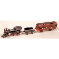 Cast Iron Loco, Tender and 1 Car  [133200]