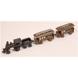 Cast Iron Locomotive and 2 Cars  [133035]