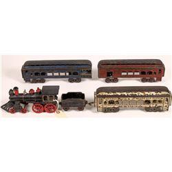 Cast Iron Locomotive and 3 Cars  [133023]
