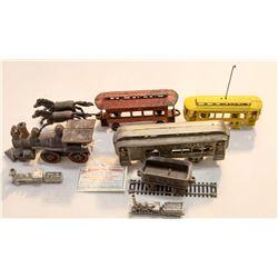 Cast Iron Locomotive and Cars  [133230]