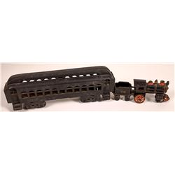 Cast Iron Locomotive Tender and 1 Car  [133088]