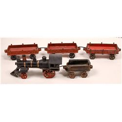 Cast Iron Locomotive, Tender and 3 Cars  [133210]