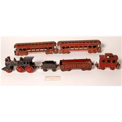 Cast Iron Locomotive, Tender, and 4 Cars  [133024]