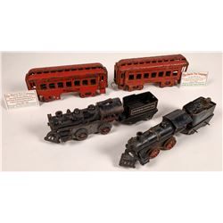 Cast Iron Locomotives with Tenders - 2  [133029]