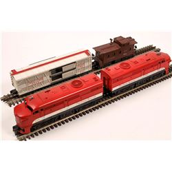 Lionel ALCO Diesel AA Unit and 2 Cars  [133168]